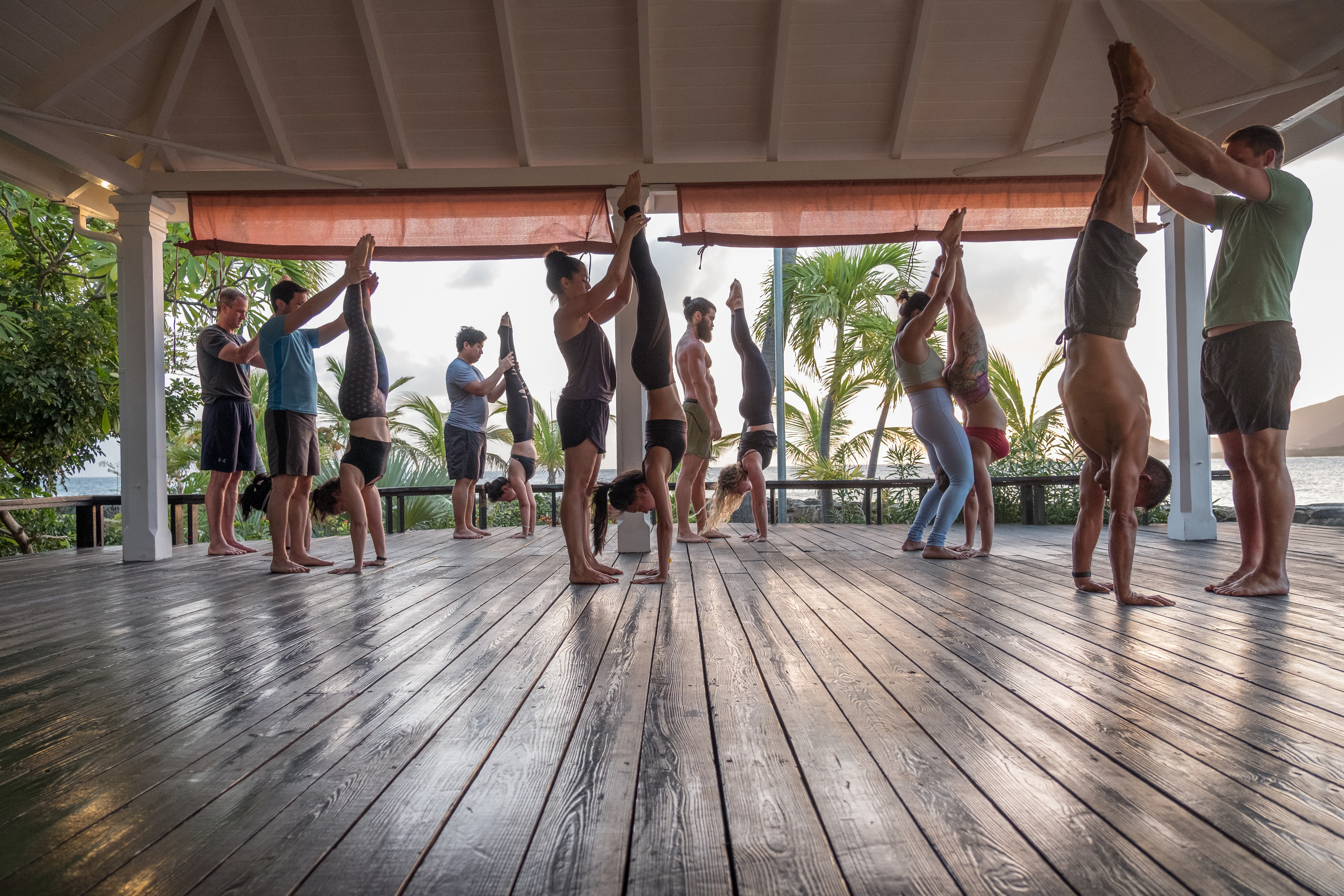 Antigua handstand and yoga retreat with Virgile.